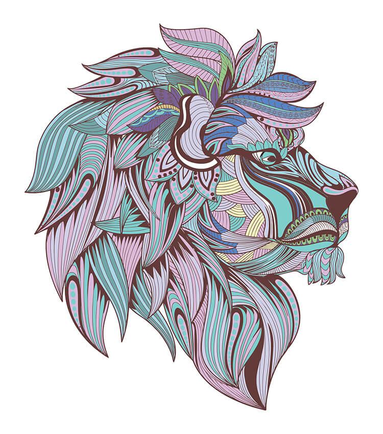 Standard Lion Blue